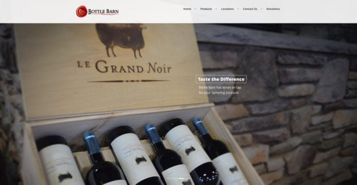 Bottle Barn | Websites | Off The Wall Advertising