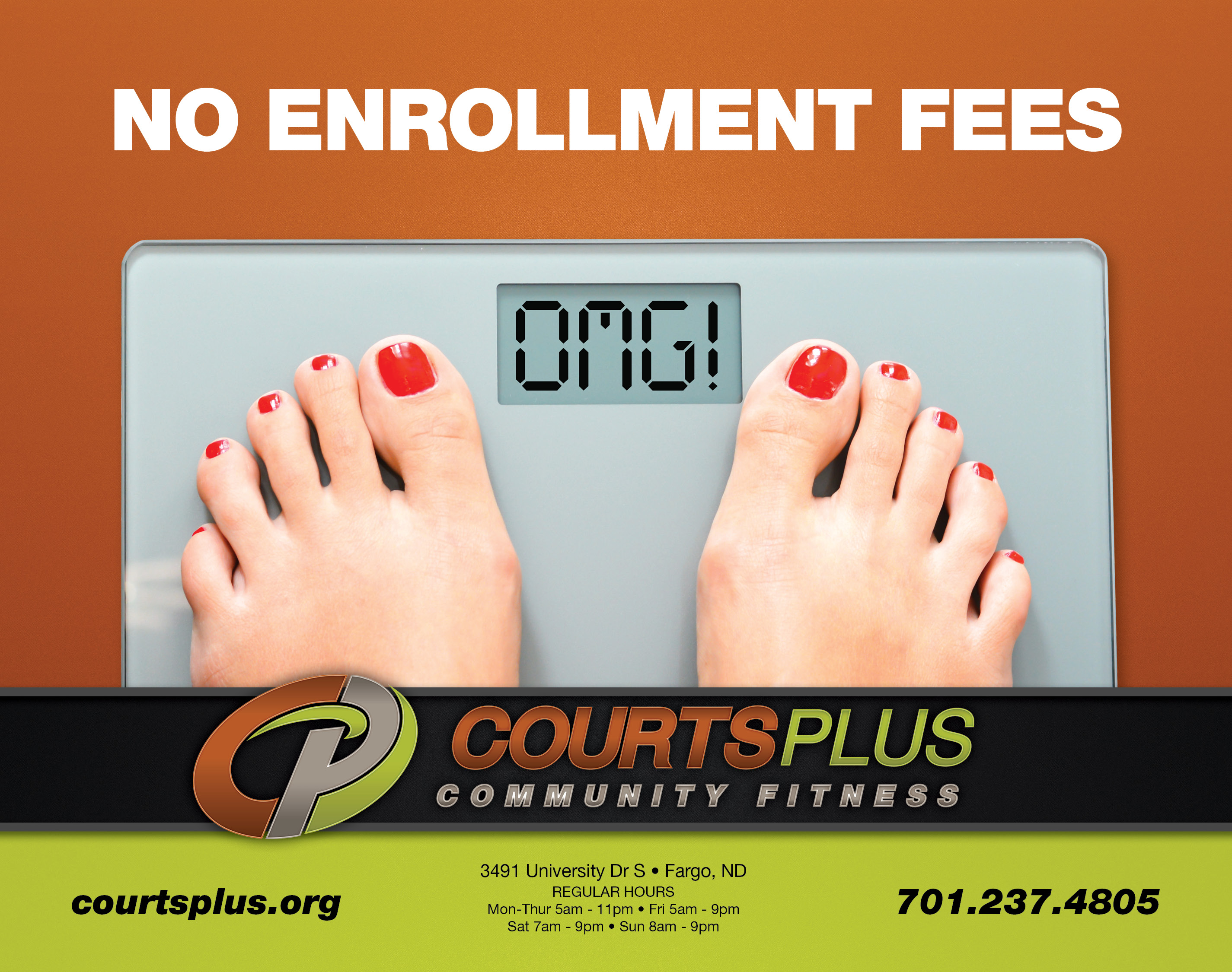 Courts Plus | Indoor Billboards | Off The Wall Advertising