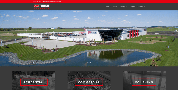 All Finish Concrete | Websites | Off The Wall Advertising