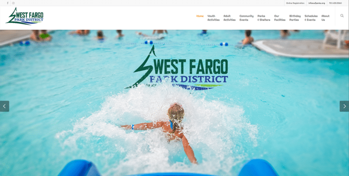 West Fargo Parks | Websites | Off The Wall Advertising