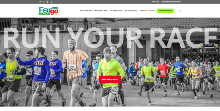 Fargo Marathon   Website Design   Off The Wall Advertising