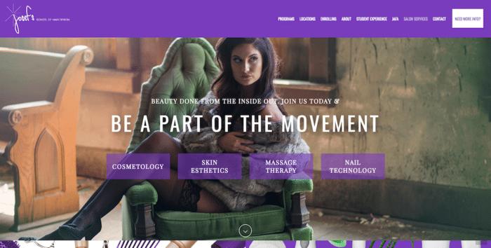 Josef's School of Hair Design | Website Design | Off The Wall Advertising